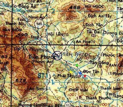 Bản đồ Tiên Phước thời chiến tranh