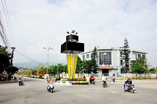 Đường trung tâm Tiên Phước hôm nay