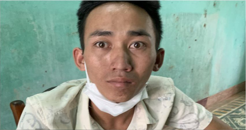Nguyễn Chiếm Pháp đến nhà bạn tù lừa chạy án. Ảnh: CA